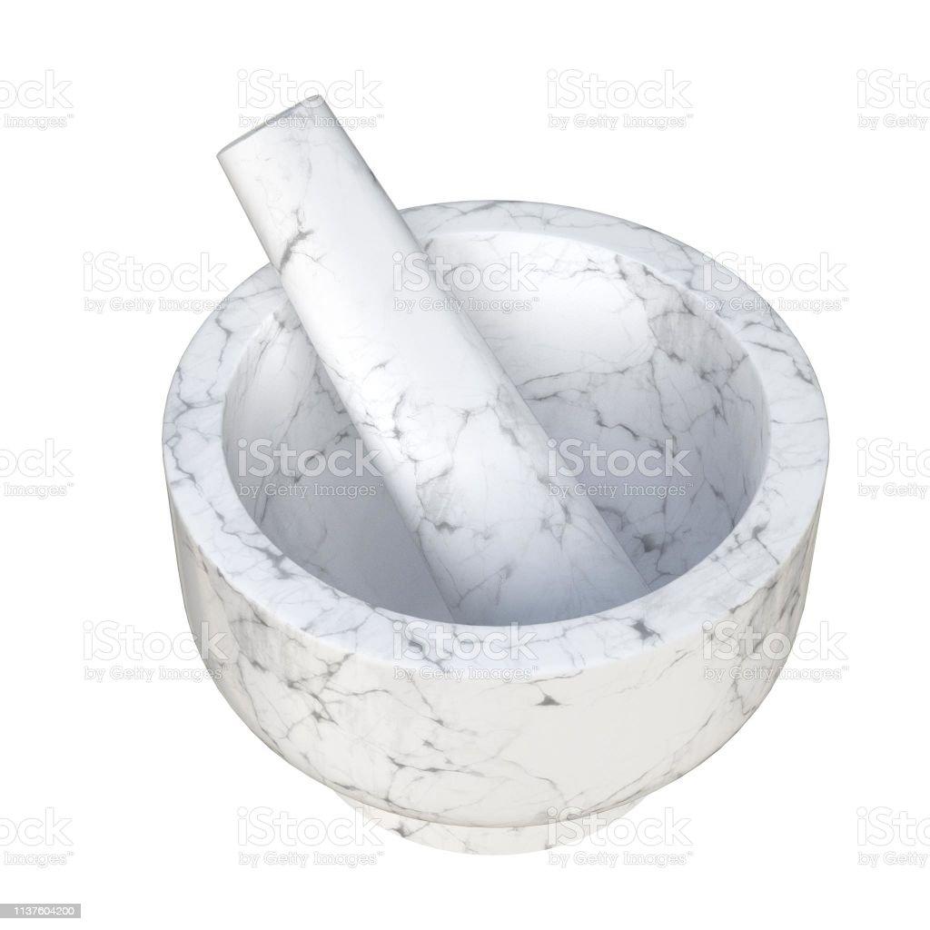 Kitchen pestle and mortar set - foto stock