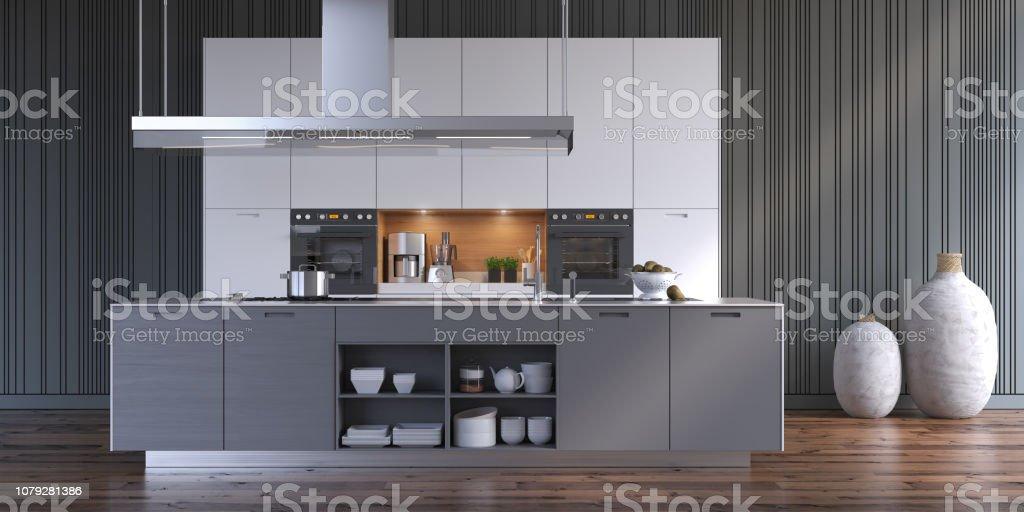 Kitchen Modern Kitchen Apartment Stock Photo