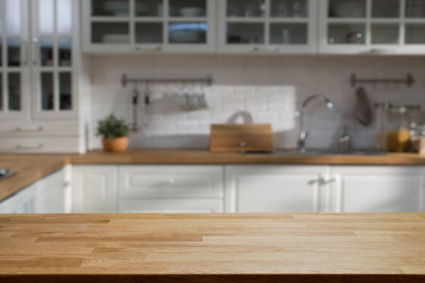 kitchen - kitchen counter stock photos and pictures