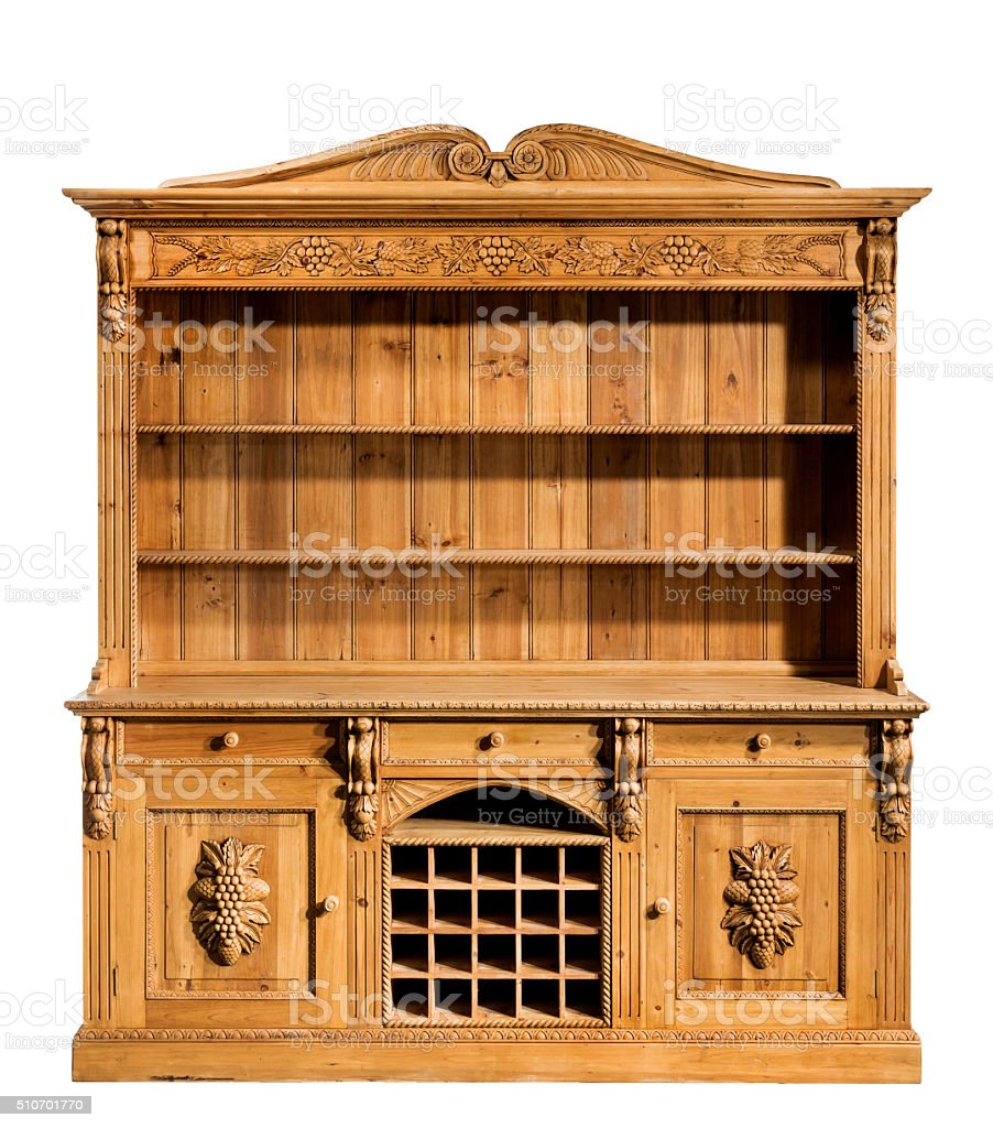 Picture of: Kitchen Pine Dresser Carved Old Vintage Stock Photo Download Image Now Istock