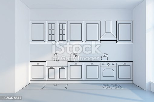 894638730 istock photo kitchen planning design, concept 3d rendering 1080378614