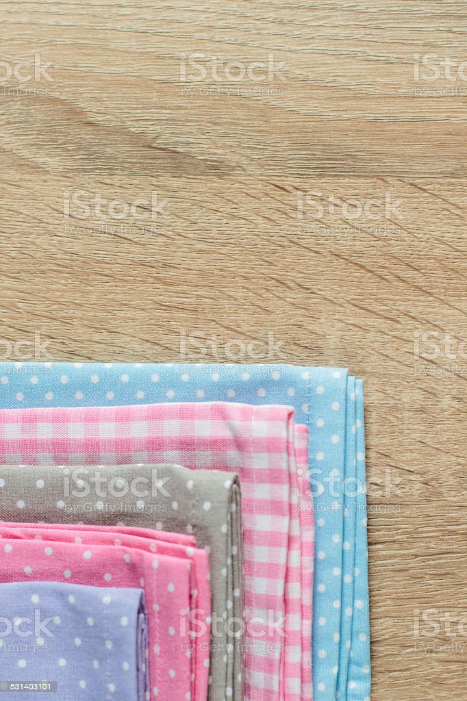 Kitchen Rags In Various Colors Royalty Free Stock Photo