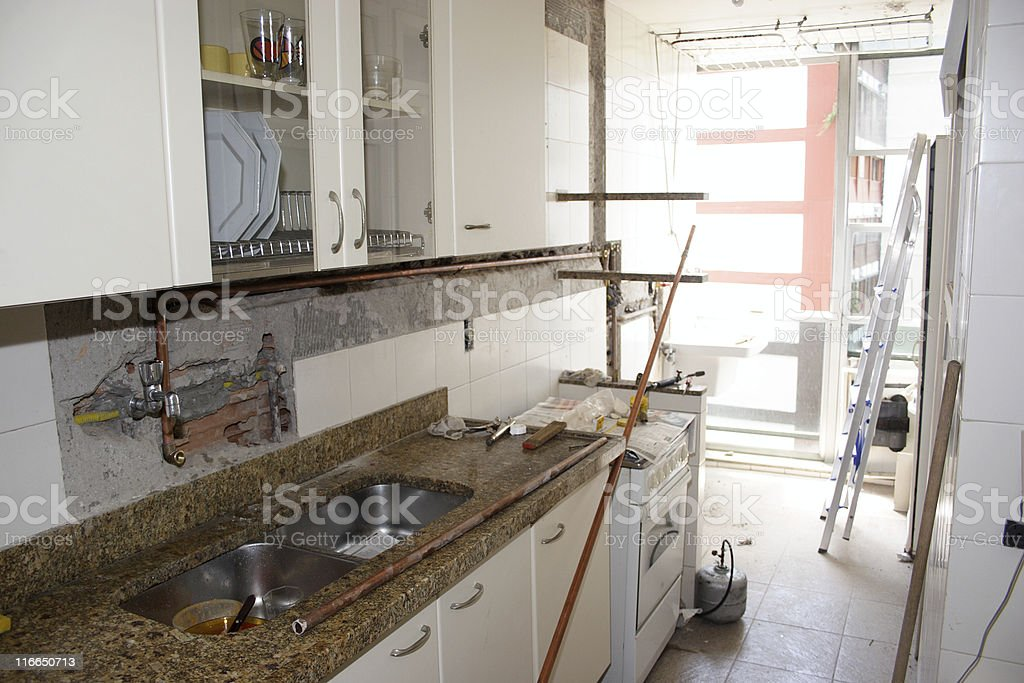 Kitchen reform stock photo
