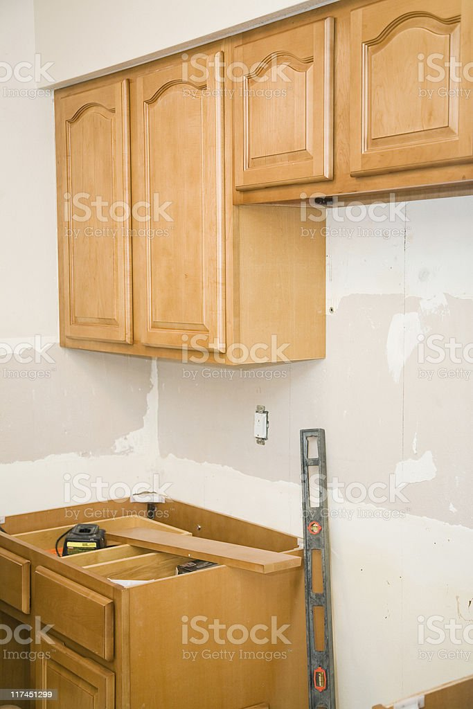 Kitchen Remodel - Cabinets royalty-free stock photo