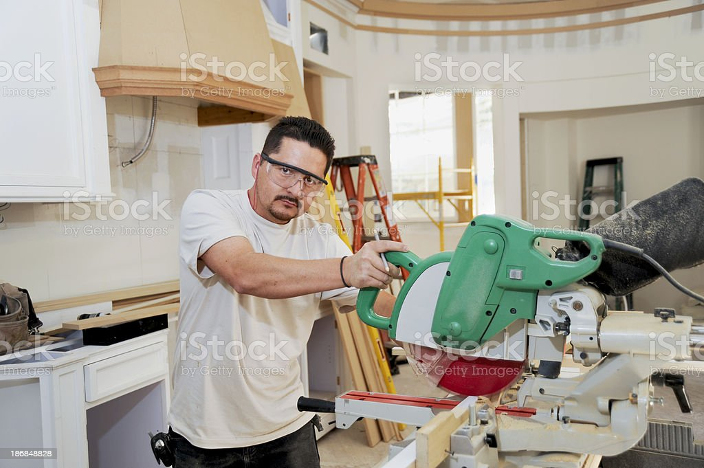 kitchen remodel contractor stock photo