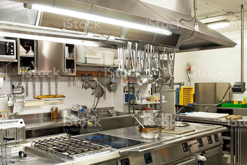 Kitchen restaurant stock photo