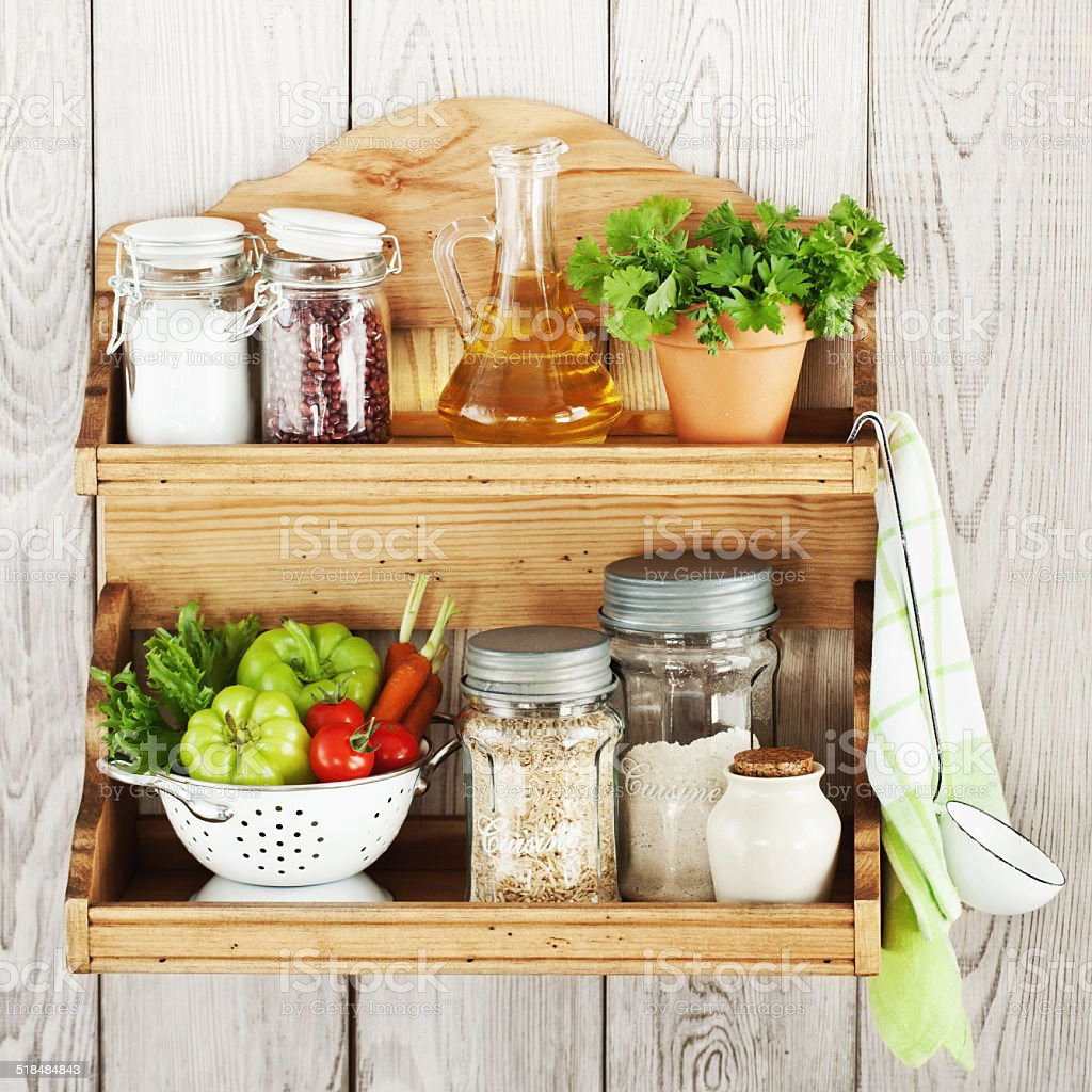 Kitchen shelf - Royalty-free Arrangement Stock Photo