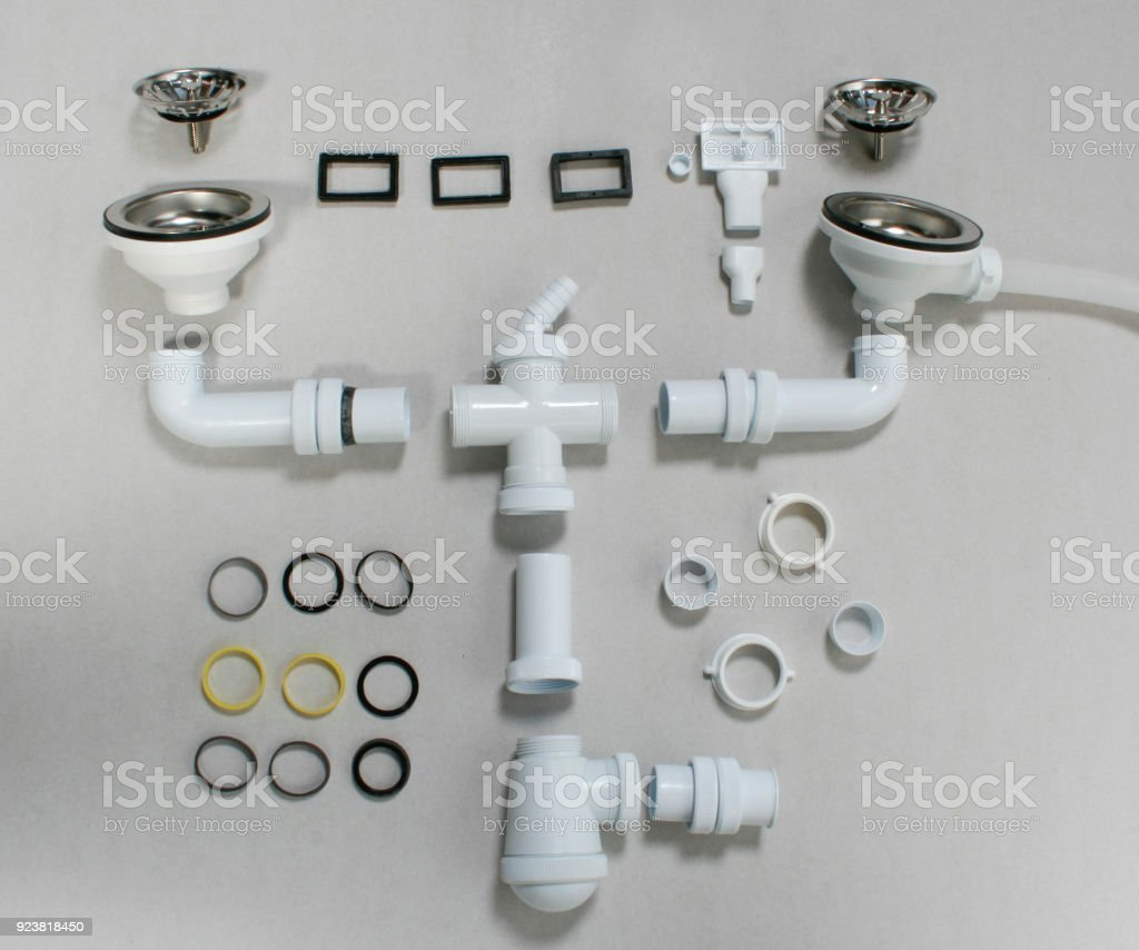kitchen sink drain parts royalty free stock photo - Sink Drain Parts