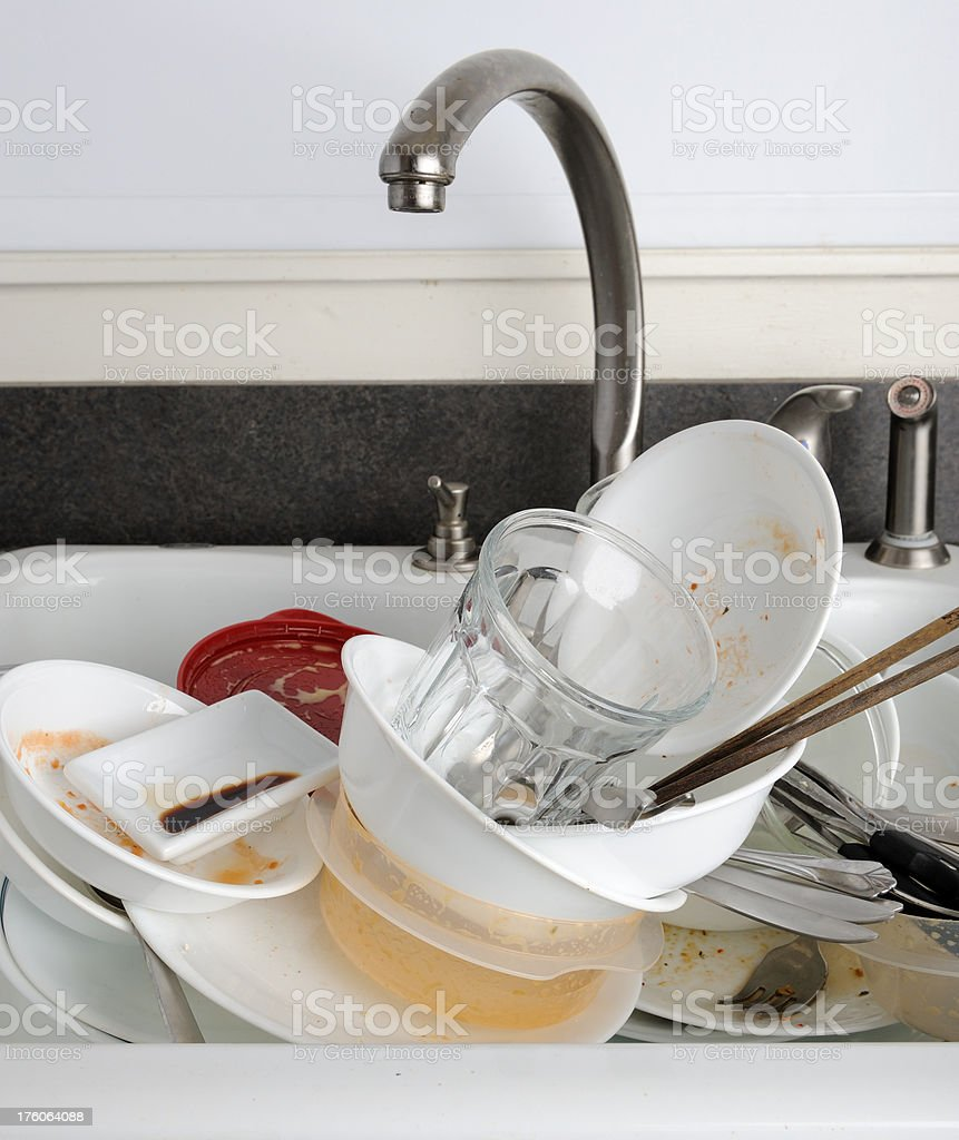 Dirty Kitchen Sink Kitchen sink full of dirty dishes stock photo more pictures of kitchen sink full of dirty dishes royalty free stock photo workwithnaturefo