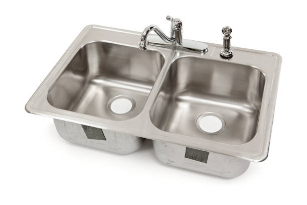 kitchen sink isolated - kitchen sink stock photos and pictures