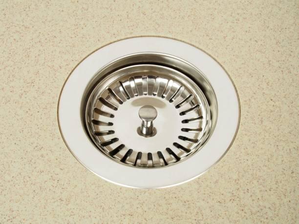 Kitchen sink on white stock photo