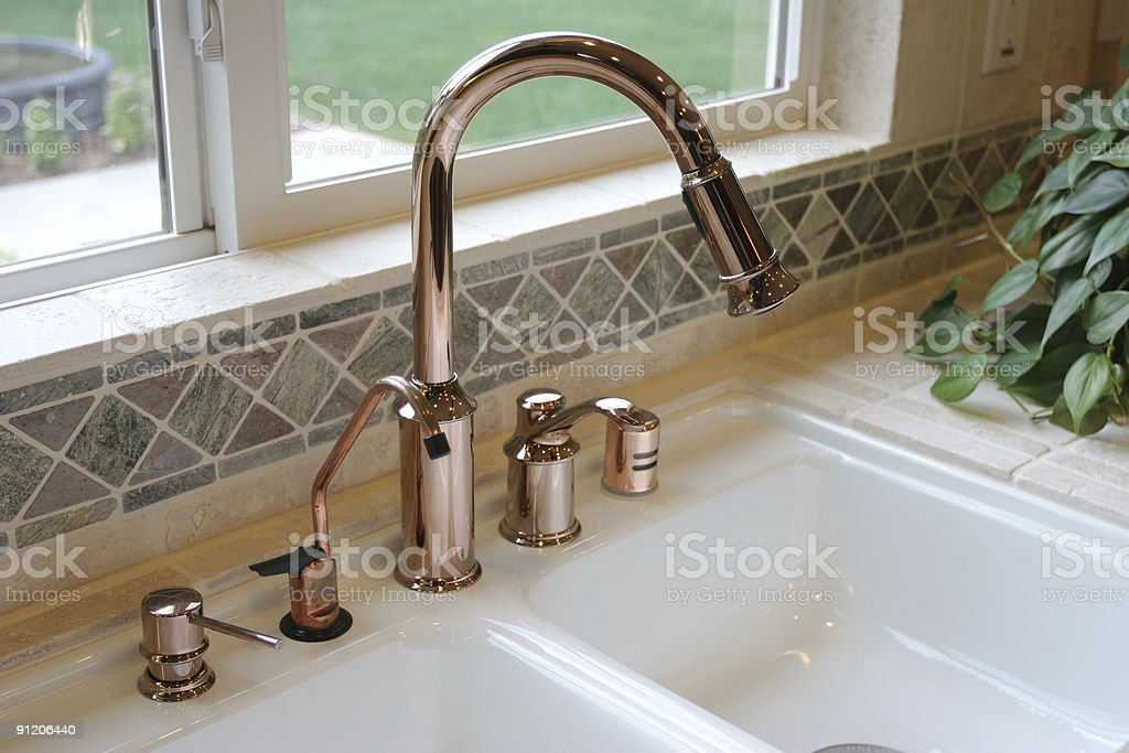 Kitchen sink royalty-free stock photo