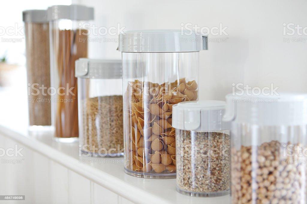 Kitchen Storage Boxes stock photo