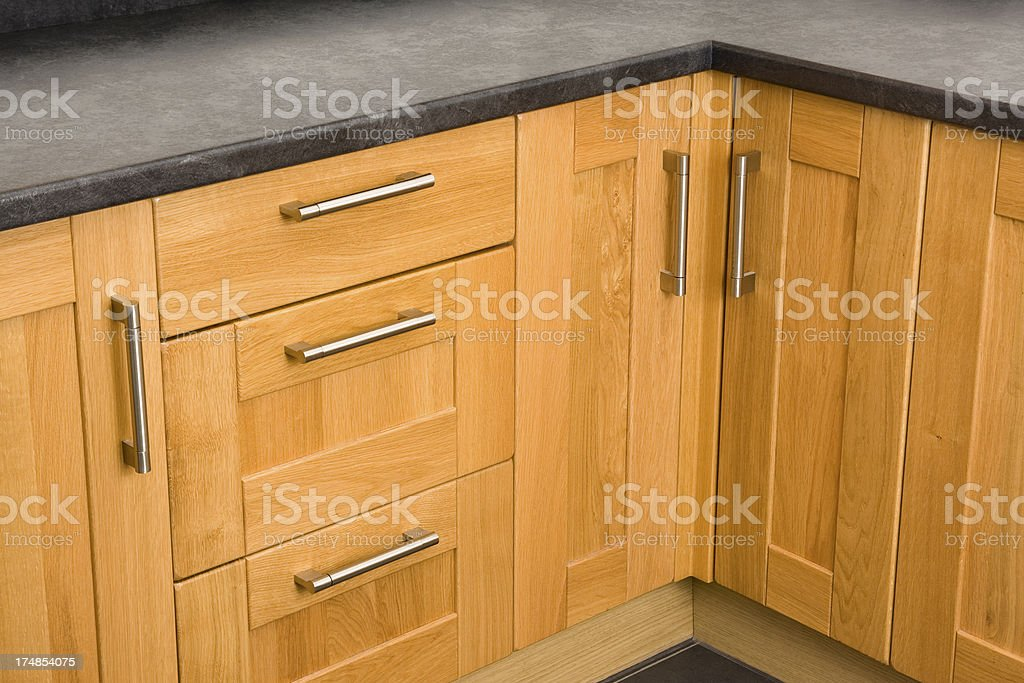 Kitchen storage units stock photo