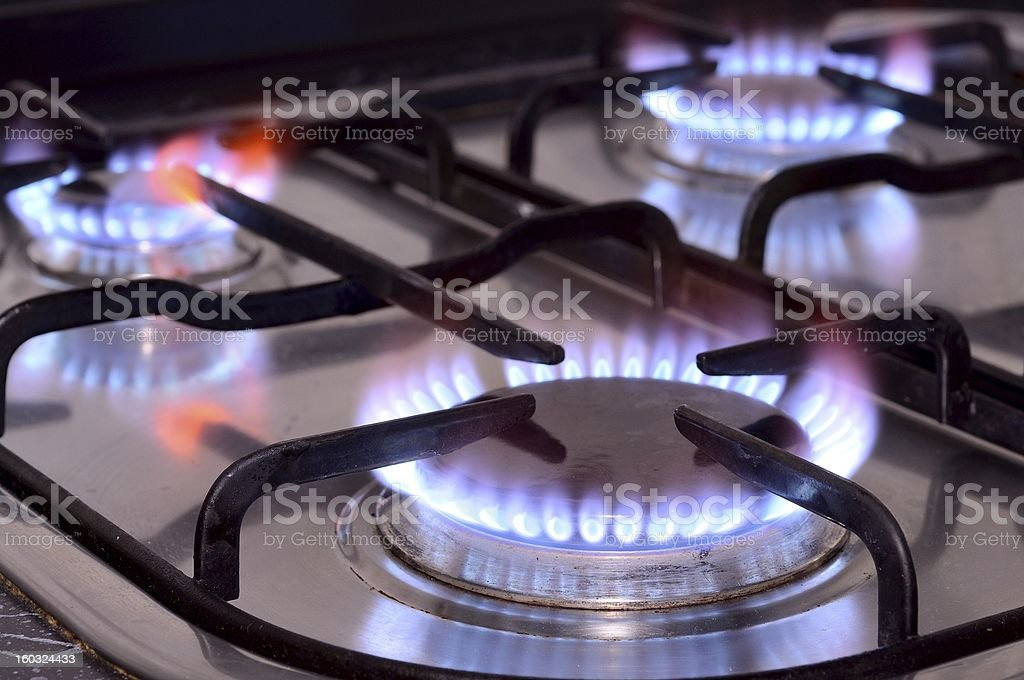 Kitchen stove stock photo