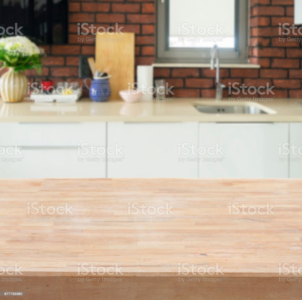 Kitchen Table Top Stock Photo   Download Image Now