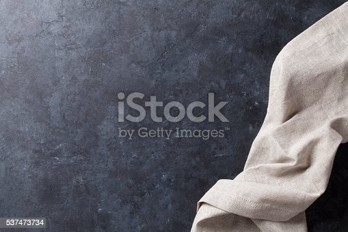 istock Kitchen table with towel 537473734