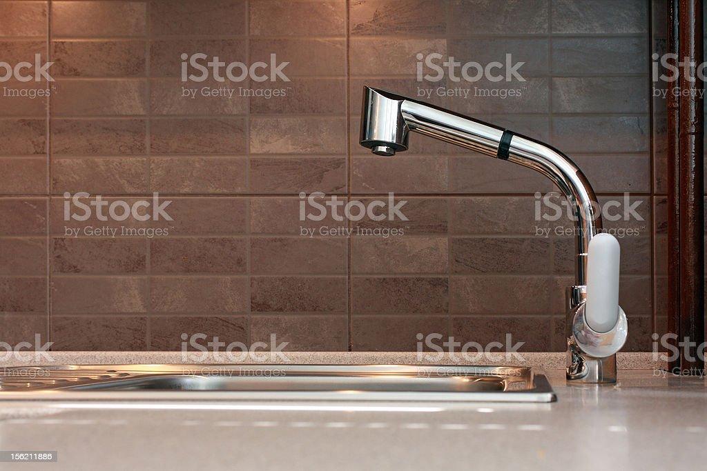 Kitchen tap stock photo