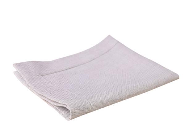Kitchen textile cloth folded isolated on white. stock photo