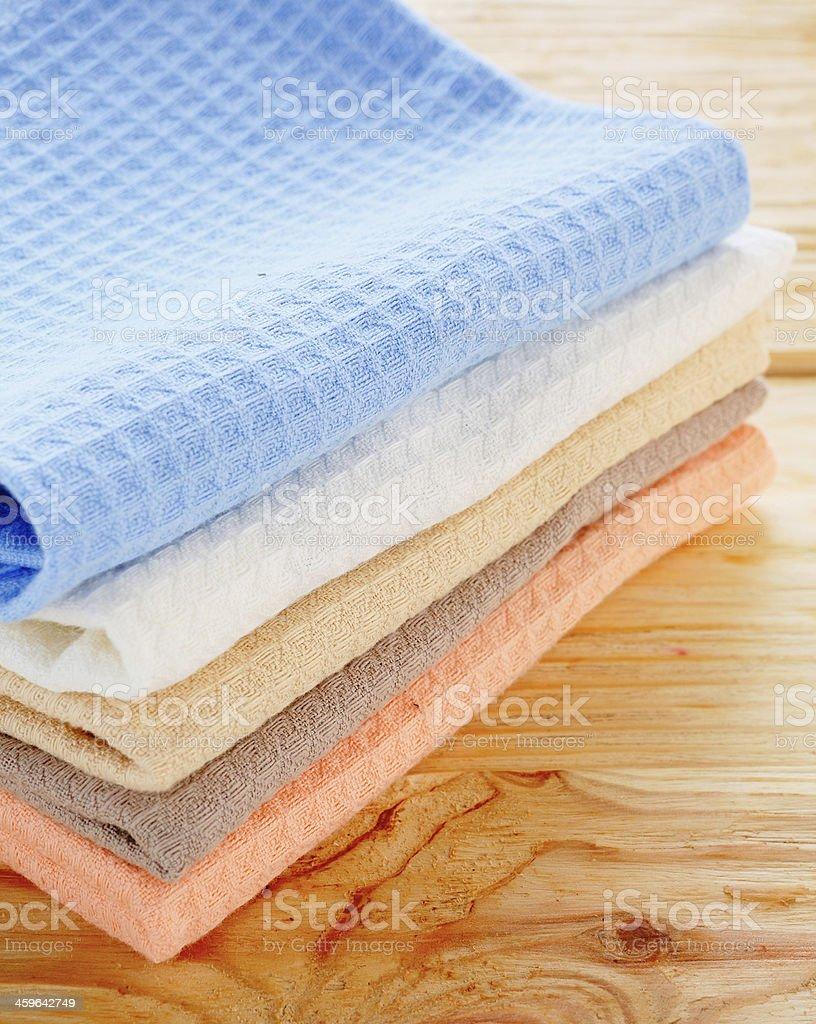 kitchen textiles on the table royalty-free stock photo