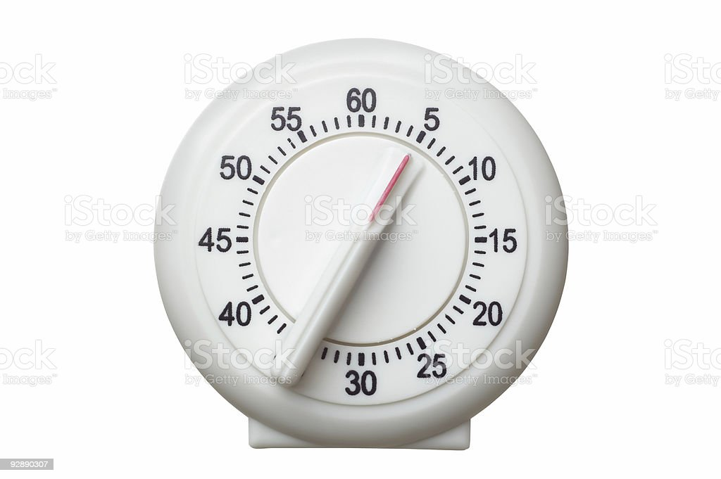 Kitchen timer on 5 minutes left royalty-free stock photo