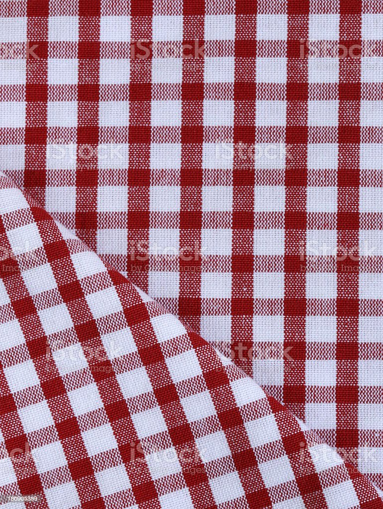 kitchen towel in the red checkered royalty-free stock photo