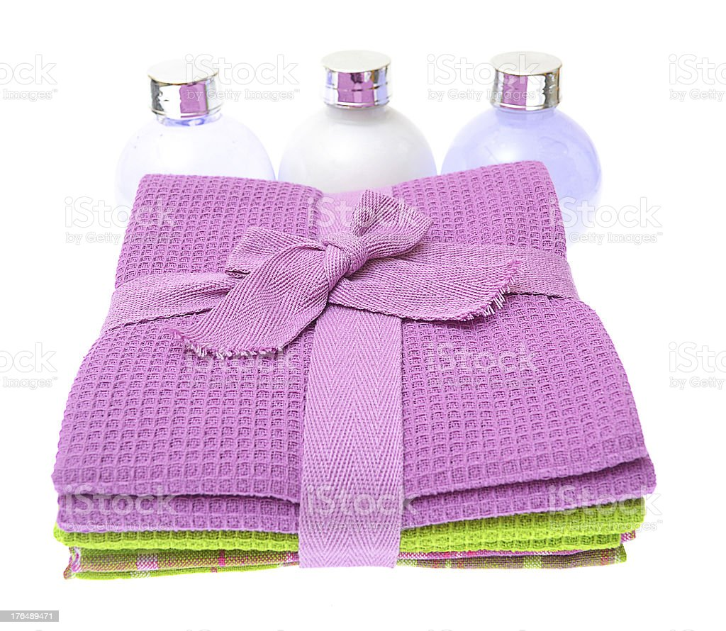 kitchen towels isolated on white background royalty-free stock photo