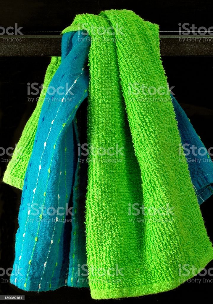 Kitchen Towels on Black royalty-free stock photo