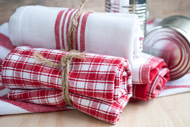 Kitchen towels stock photo