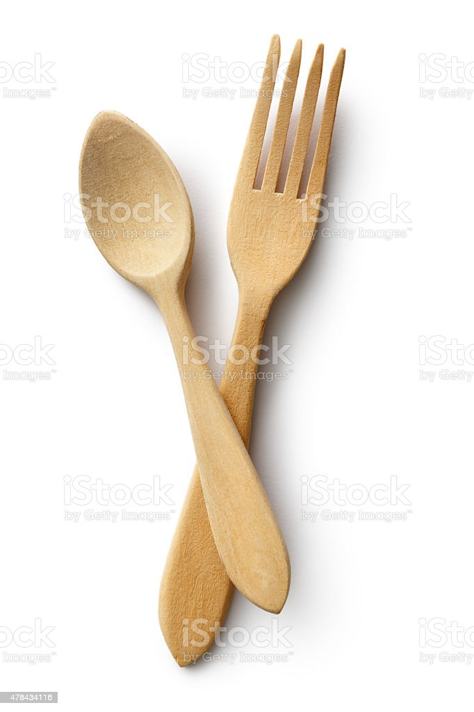 Kitchen Utensils: Fork and Spoon stock photo