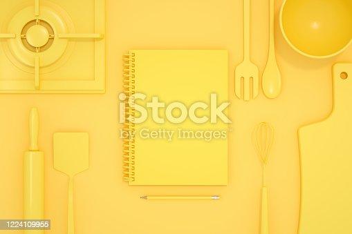 istock Kitchen Utensils, Minimal Design, Homemade, Recipe 1224109955