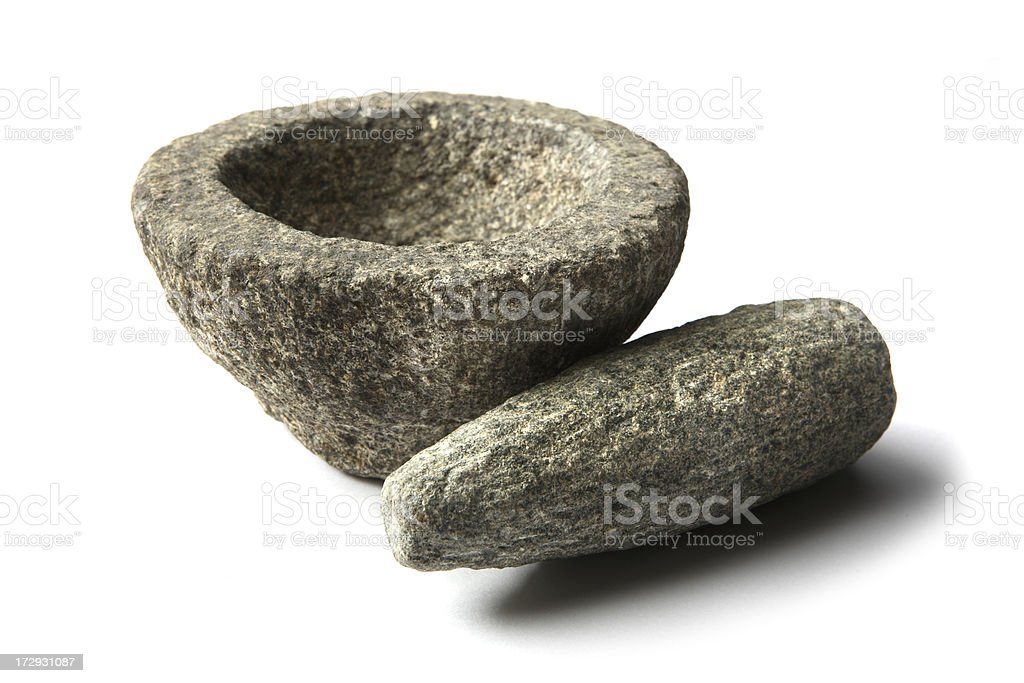 Kitchen Utensils: Mortar and Pestle royalty-free stock photo