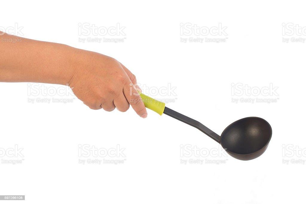kitchen utensils on white royalty-free stock photo
