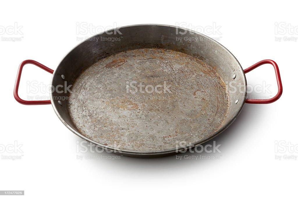 Kitchen Utensils: Paella Pan royalty-free stock photo