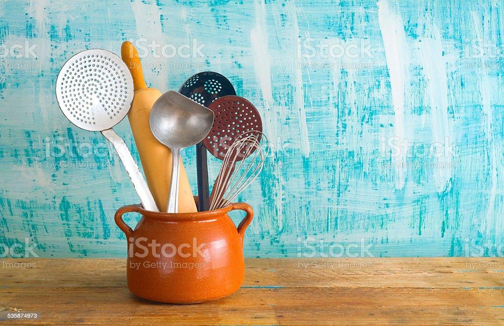 kitchen utensils, stock photo