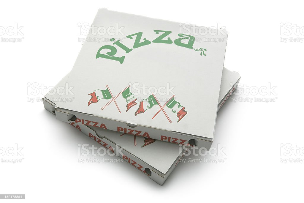 Kitchen Utensils: Pizza Boxes stock photo