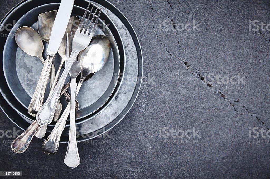Küchengeräte-Silber Besteck – Foto