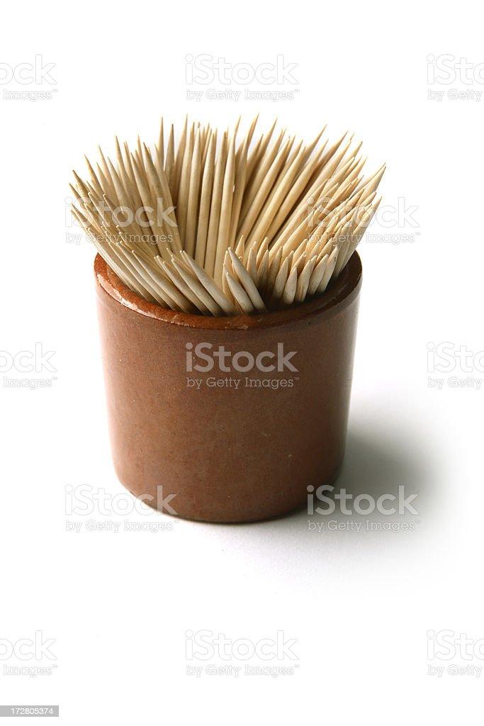Kitchen Utensils: Toothpicks royalty-free stock photo