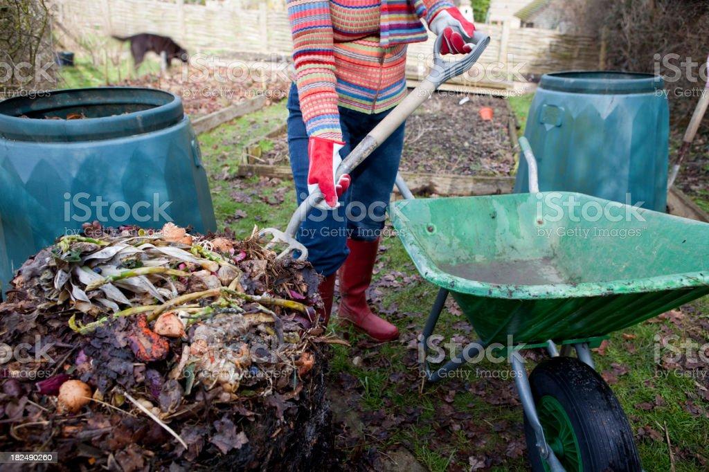 Kitchen Waste Compost stock photo