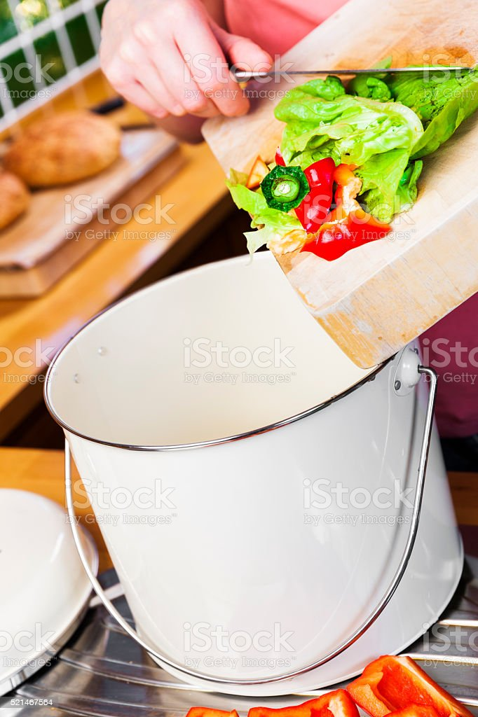 Kitchen waste recycle stock photo