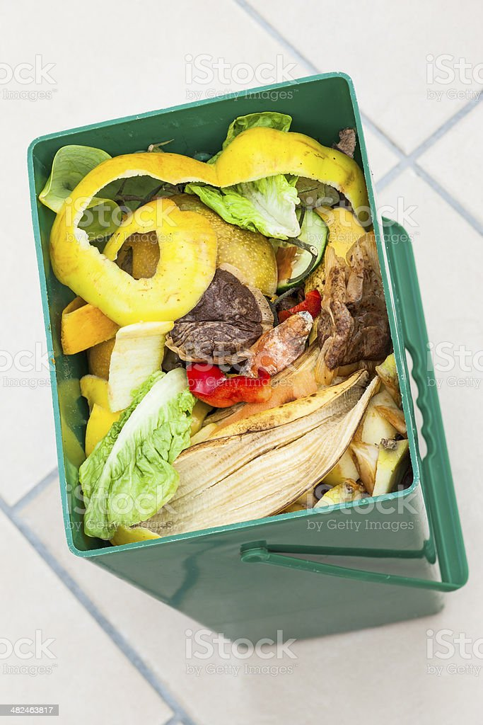 Kitchen waste recycling stock photo