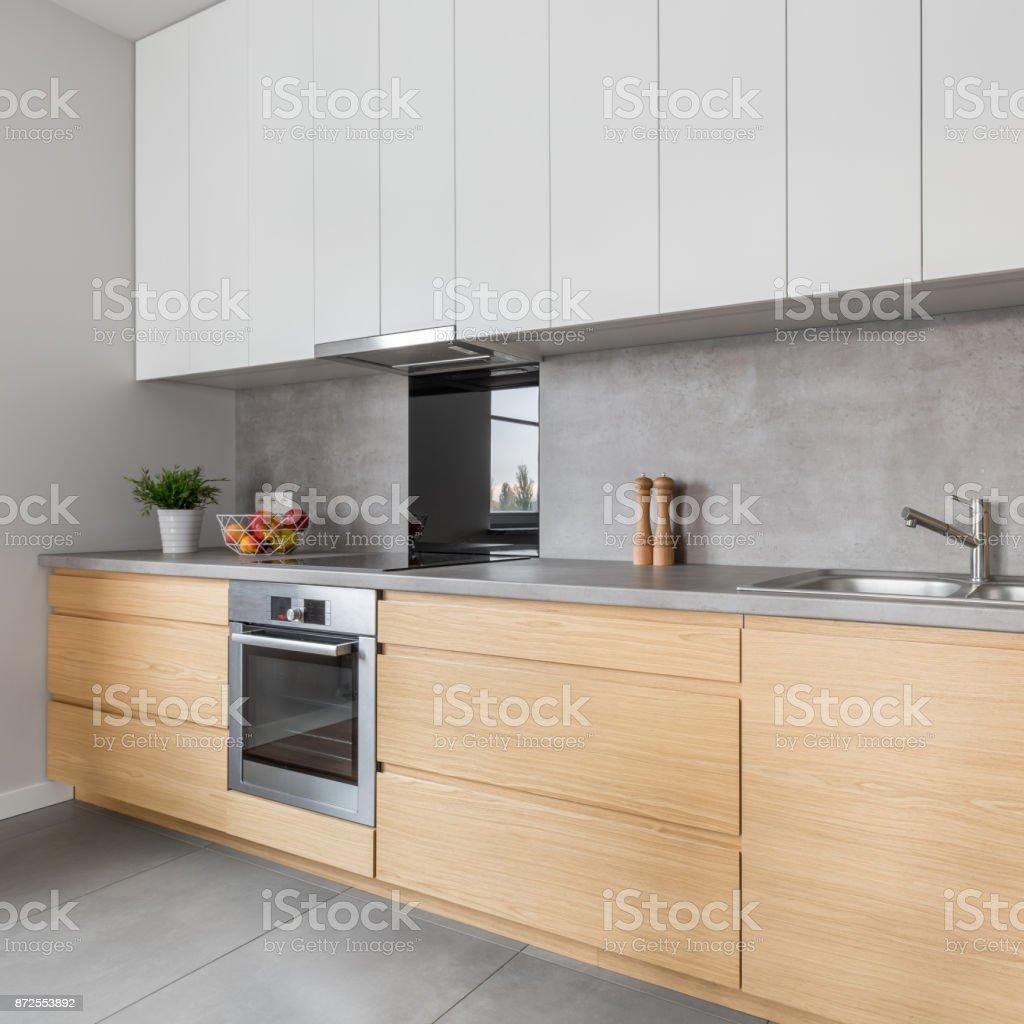 Küche Mit Beton Arbeitsplatte Stockfoto und mehr Bilder von ...