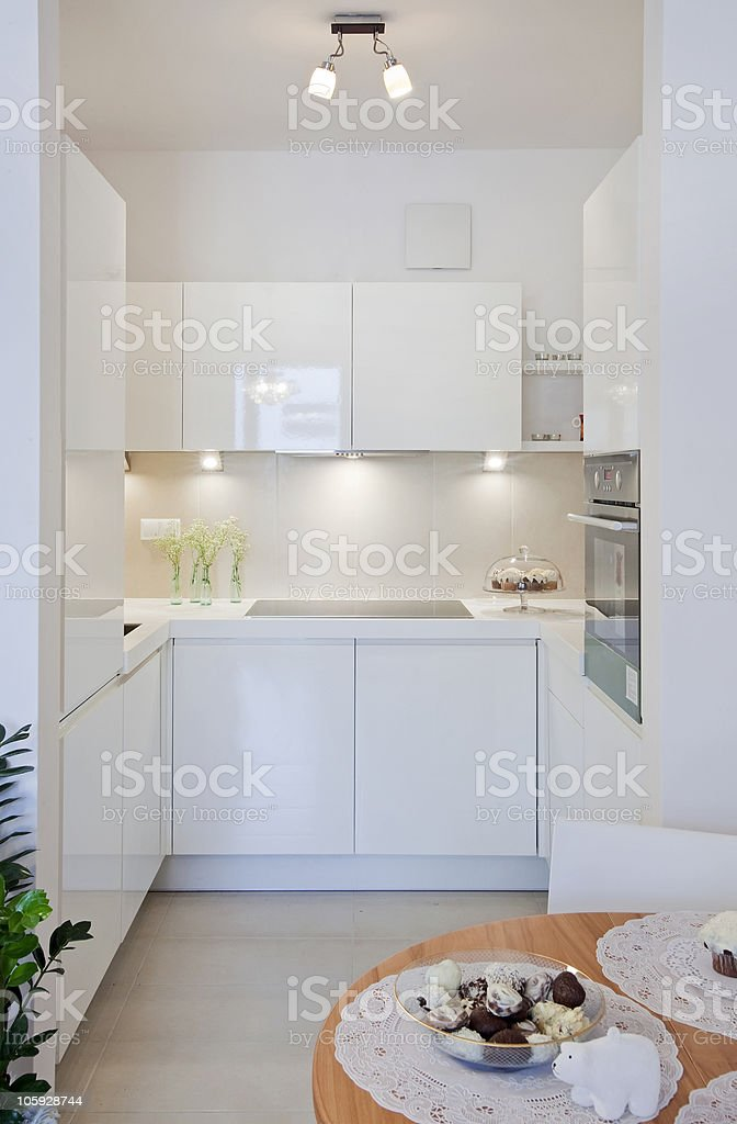 kitchen with dining royalty-free stock photo