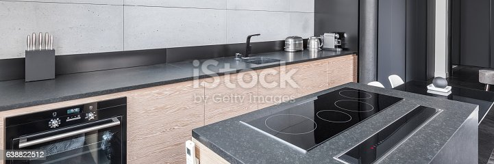 istock Kitchen with functional worktop 638822512