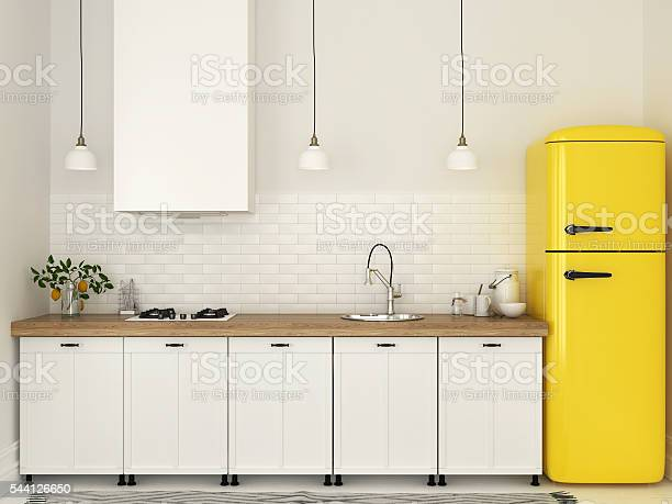 Kitchen with white furniture and a yellow fridge picture id544126650?b=1&k=6&m=544126650&s=612x612&h=zisd3jymft sbad kvs0v0rtr60psru gvcyev9iplg=