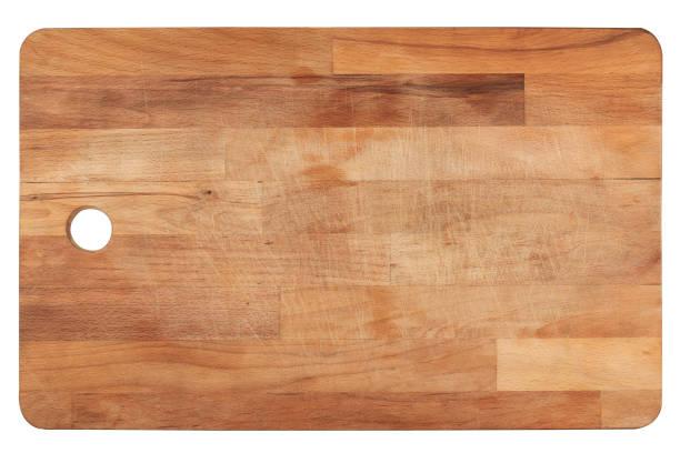 kuchnia drewniana deska do krojenia na białym - deska zdjęcia i obrazy z banku zdjęć