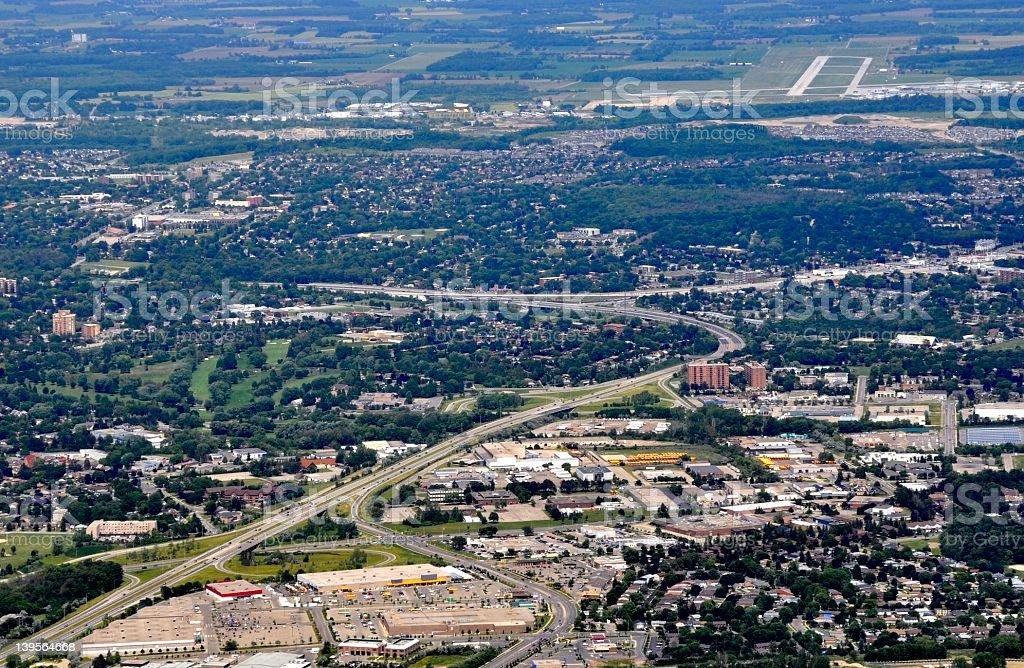 Kitchener aerial stock photo