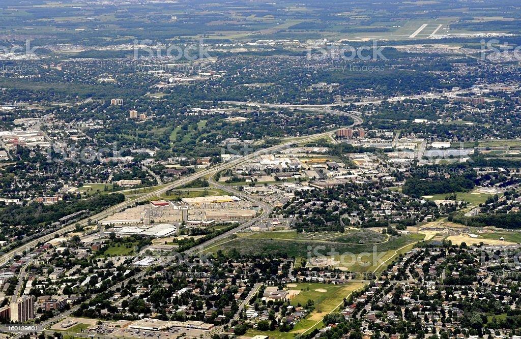 Kitchener-Waterloo aerial stock photo