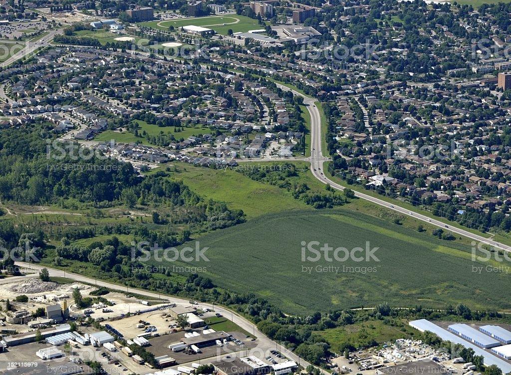 Kitchener-Waterloo suburb stock photo