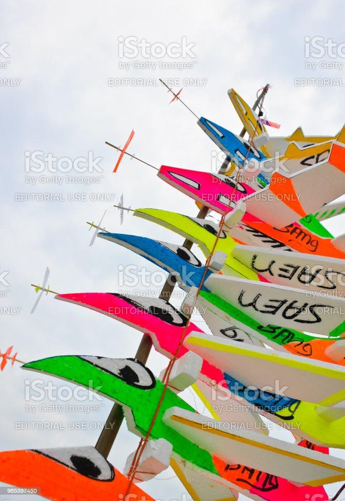 Kite airplane royalty-free stock photo